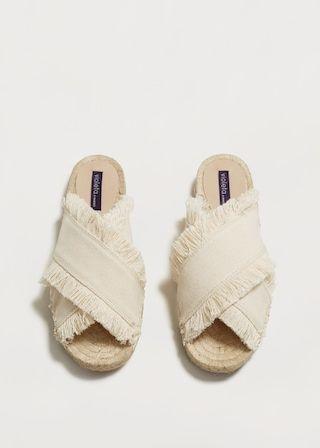 Sandalias cruzadas flecos | MANGO