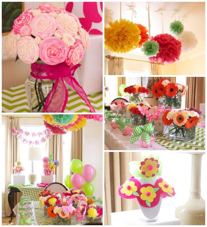 Flower Shop Themed Birthday Party Ideas Decor Planning Idea