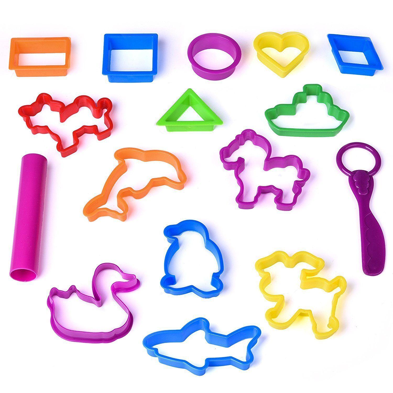 Kids Clay Dough Tools Playset Animal Sea Creatures Toy