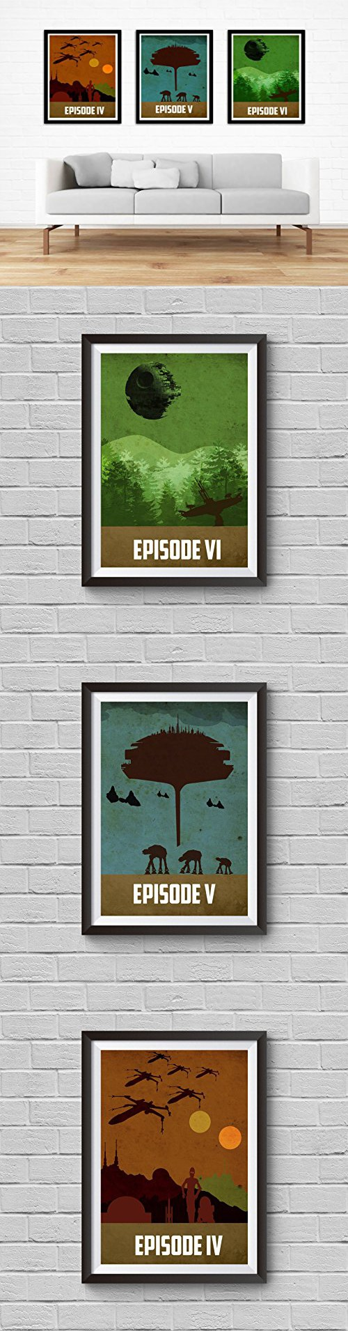star wars trilogy poster set vintage poster star wars movie print star wars trilogy poster set vintage poster star wars movie print minimalist star wars poster artwork wall art home decor wall hanging a new hope the empire