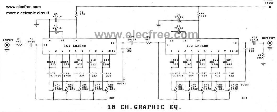 5 Band Graphic Equalizer Circuit Diagrams Electronic Circuit Boards