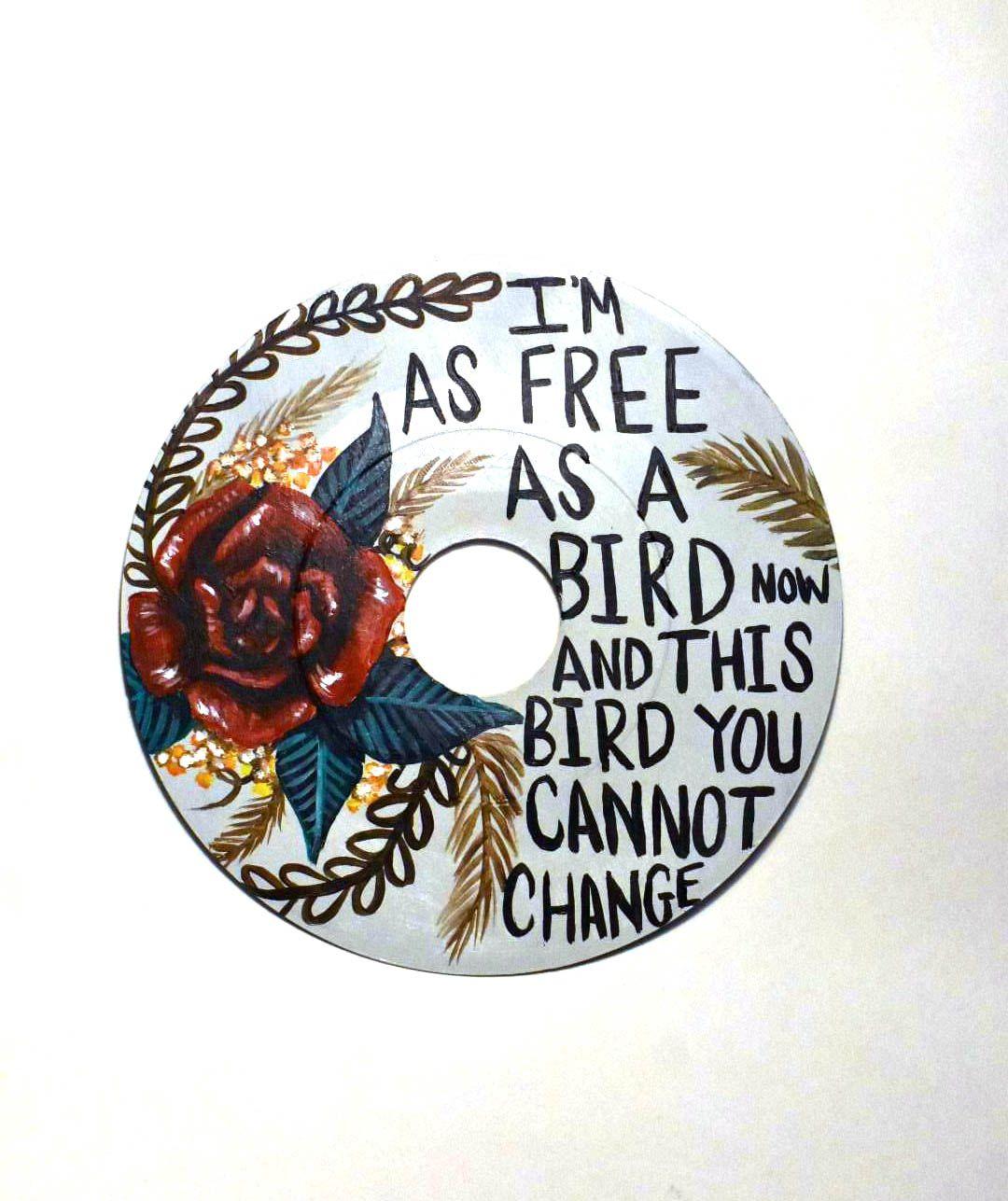Lynyrd Skynyrd Painted Vinyl Record Music Painting Vinyl Record Art Record Art