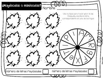 Un día de otoño {Fall Math and Literacy Centers in Spanish