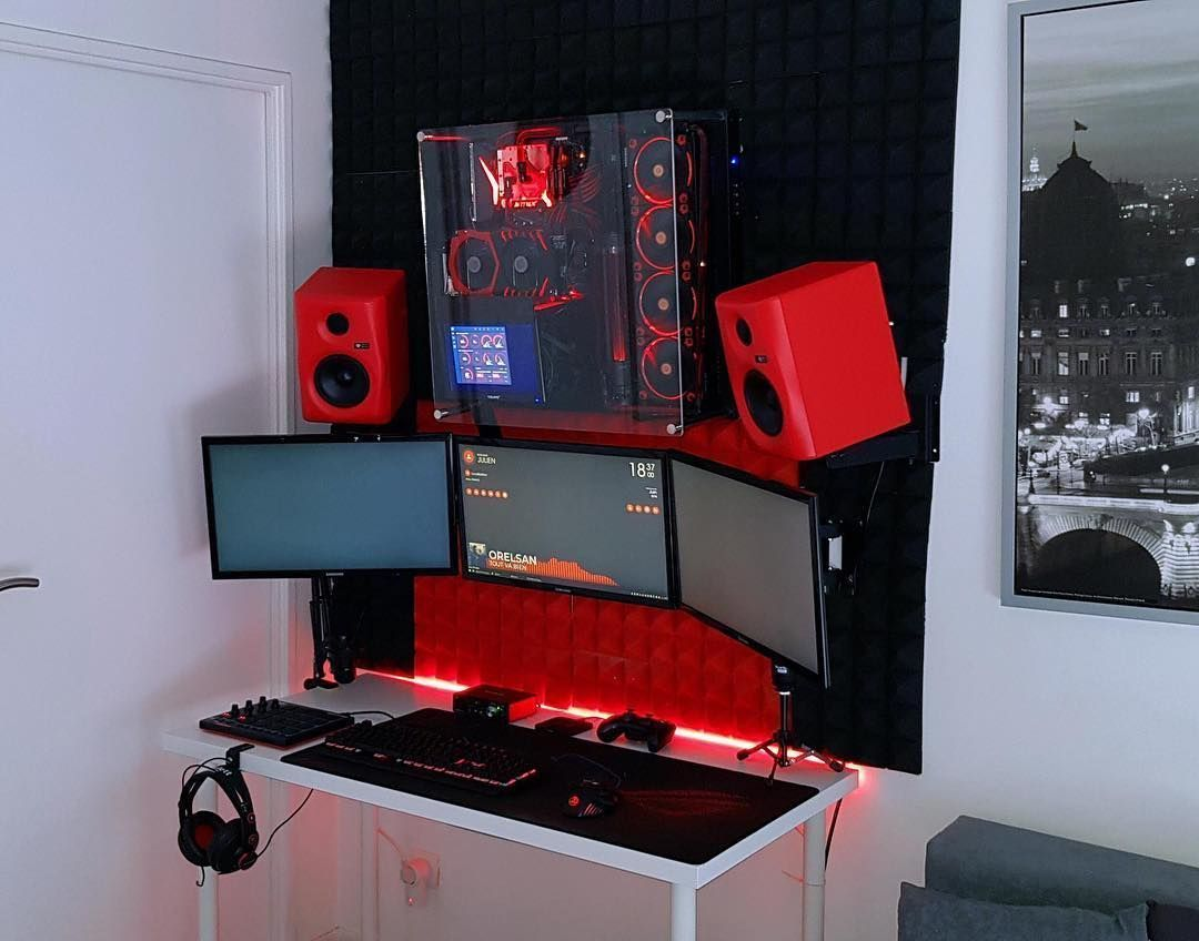 beautiful triple monitor with a glass case free worldwide shipping rh pinterest com
