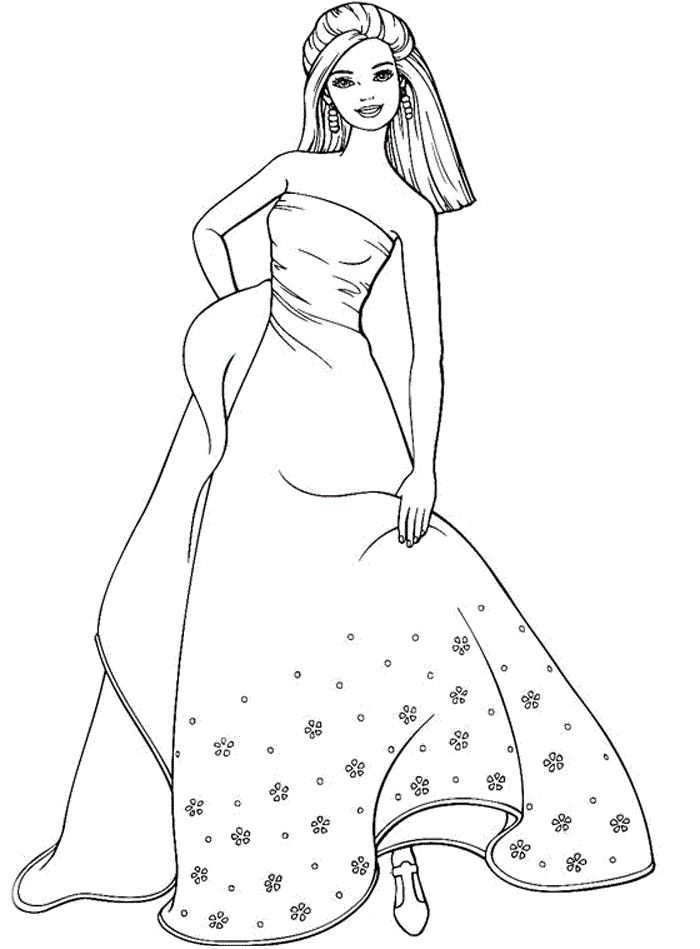 barbie coloring pages printable to download httpfreecoloring pagesorg - Barbie Girl Pictures For Colouring