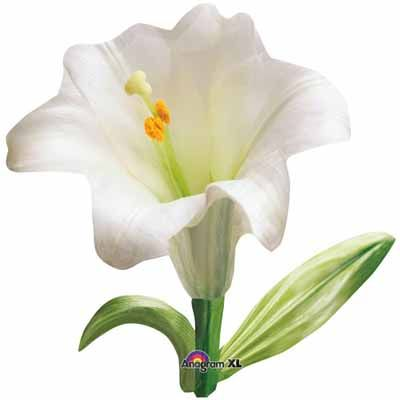 The easter lily balloon will be wonderful for any type of easter party world party supplies in tacoma birthday wedding cake decor junglespirit Image collections