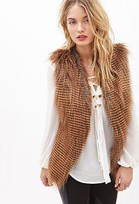 Faux Raccoon Fur vest