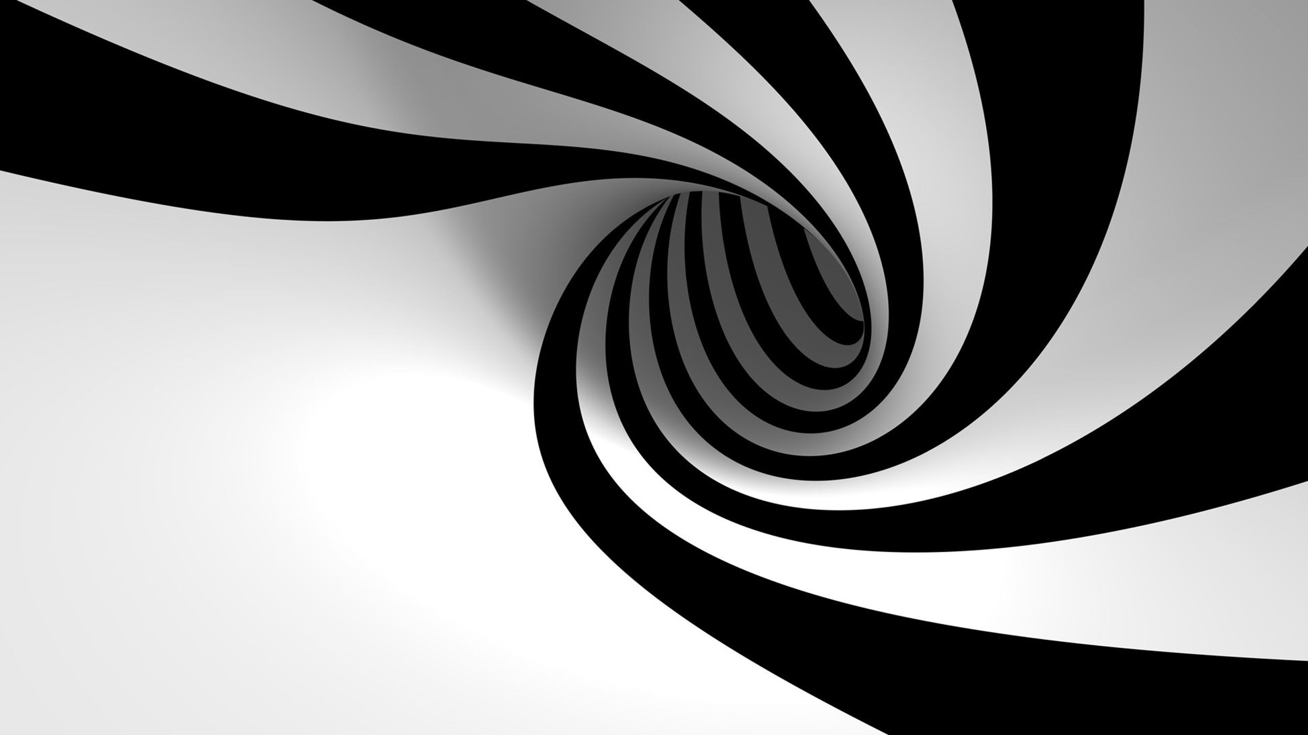 2560x1440 3d Black White Spiral Wallpaper Black And White Wallpaper Iphone Desktop Wallpaper Black Black And White Wallpaper
