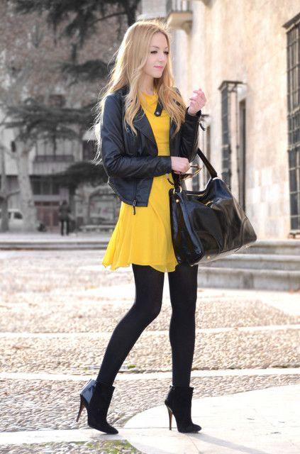 yellow summer dress in winter? hell yes!