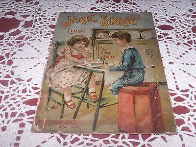 Antique Rare Children S Nursery Rhymes Book Jack Sprat Linen 1890 Gem Series