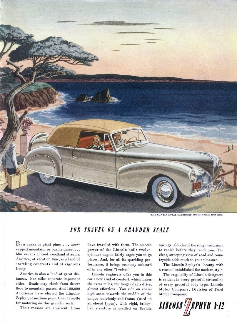 lincoln zephyr v 12 1940 ad automobile ads illustrations rh pinterest com Zephyr Auto Mobile 1980s 1943 Lincoln Zephyr Coupe