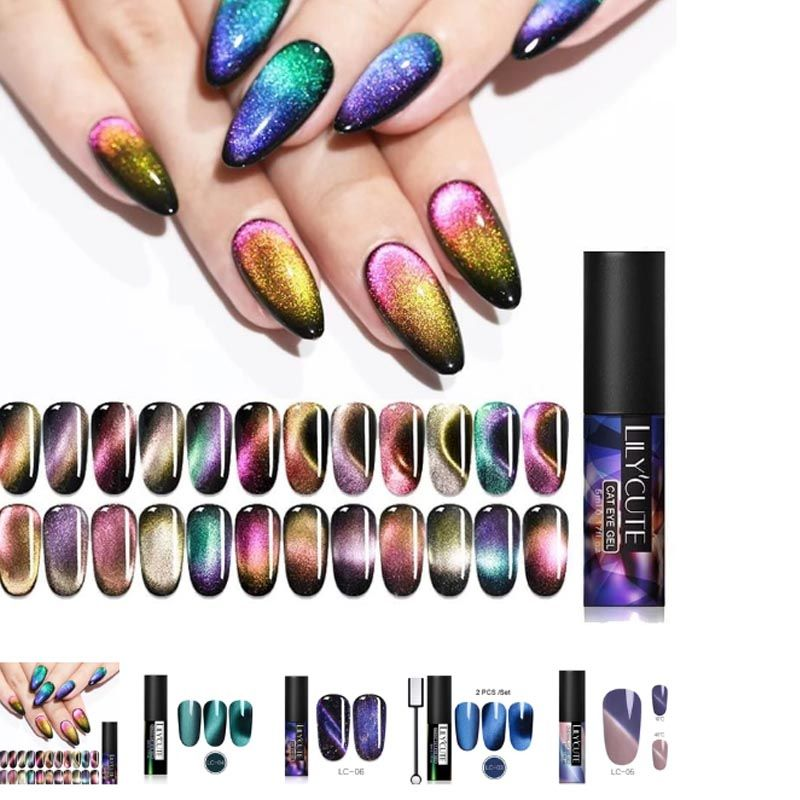 Glitter Shining Mixed Colors Nail Gel