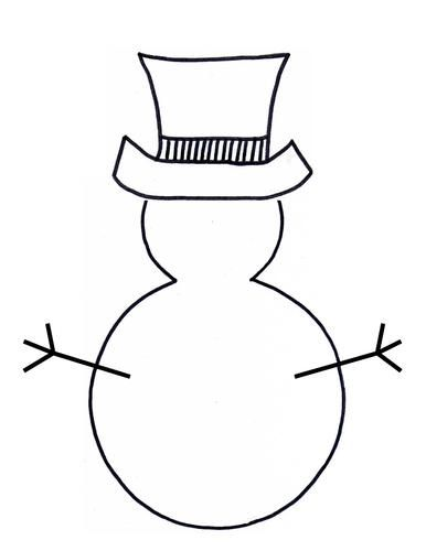 Snowman Template Teaching Ideas Preschool Christmas Crafts