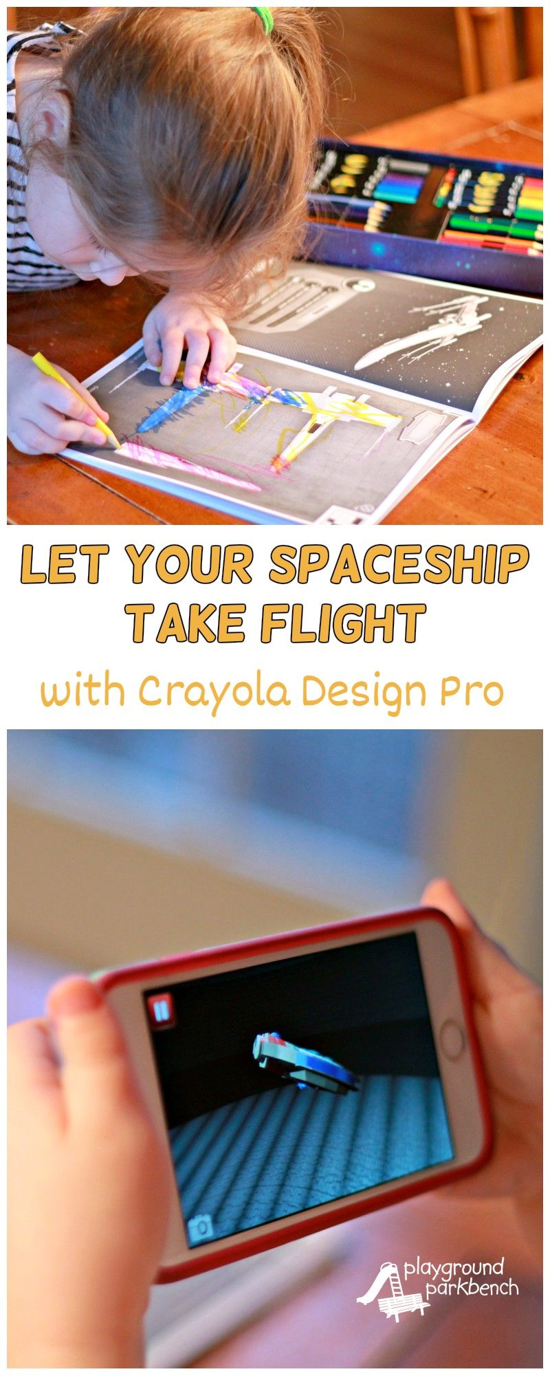 Let your preschooler experience the awesomeness of engineering with Crayola Alive Design Pro.  Let them design their own Star Wars spaceship and bring it to life right off the page to play and fly with on missions!