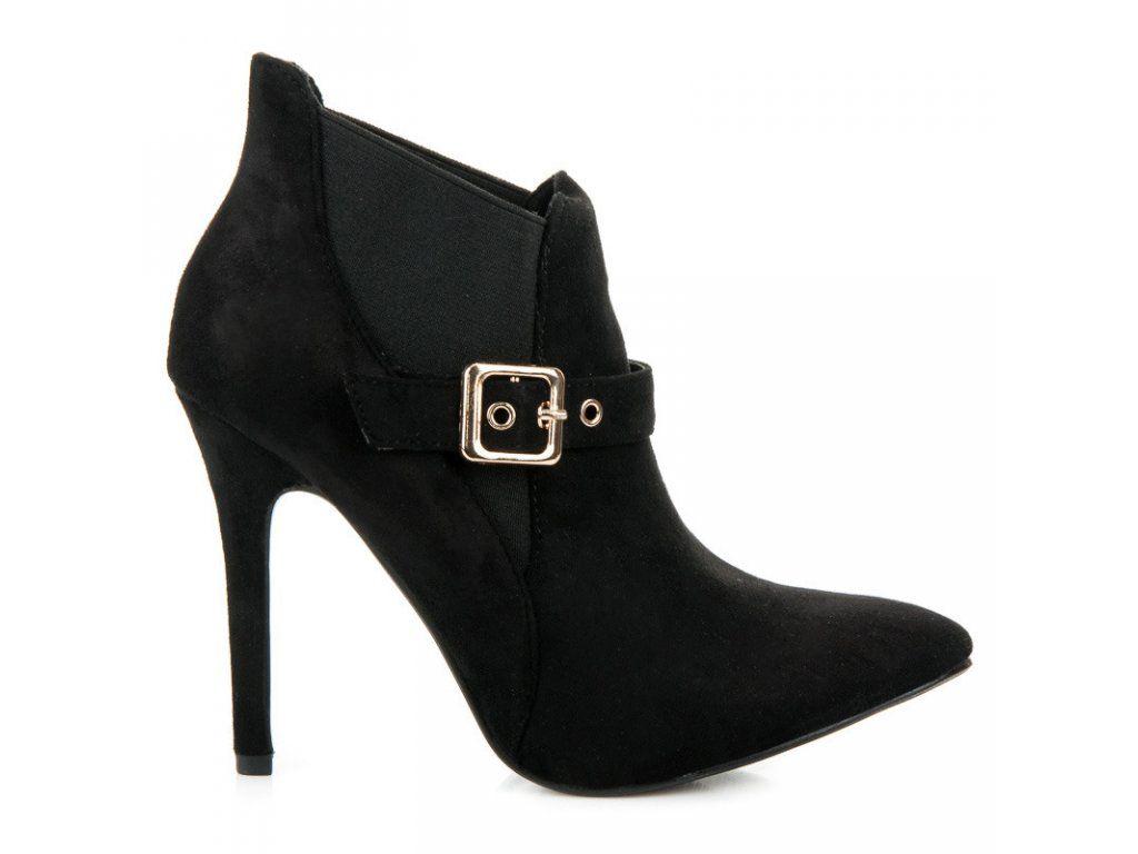 bd734ee4af7e Členkové topánky čierne Sweet Shoes