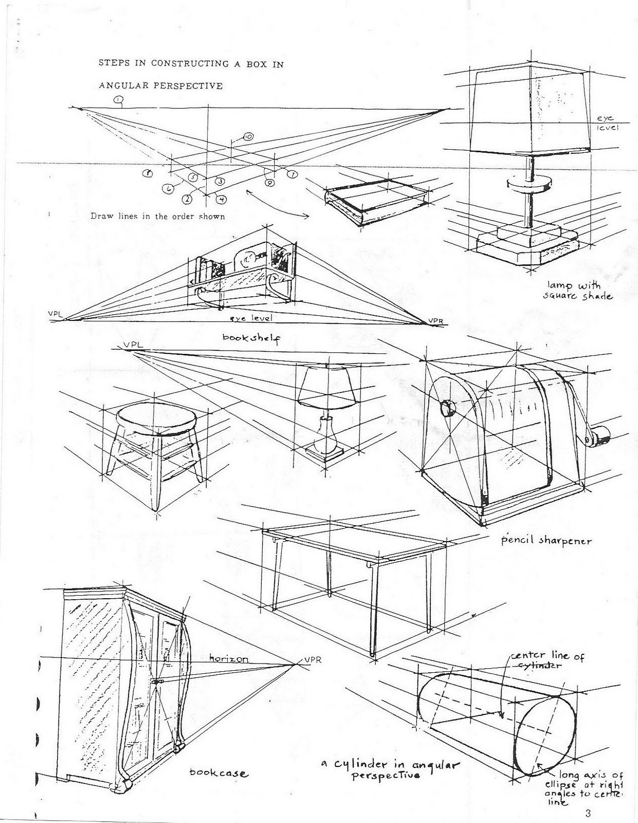 Worksheets One Point Perspective Worksheet 1 point perspective worksheet scenarios for objects in two and one