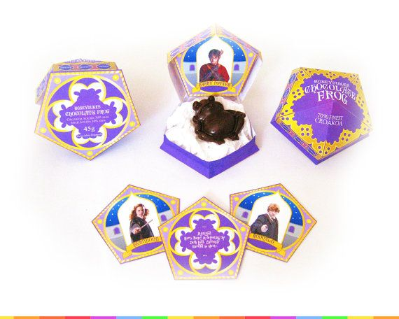 Chocolate Frog Box Template + Includes Matching Sign! - Wizard Party ...