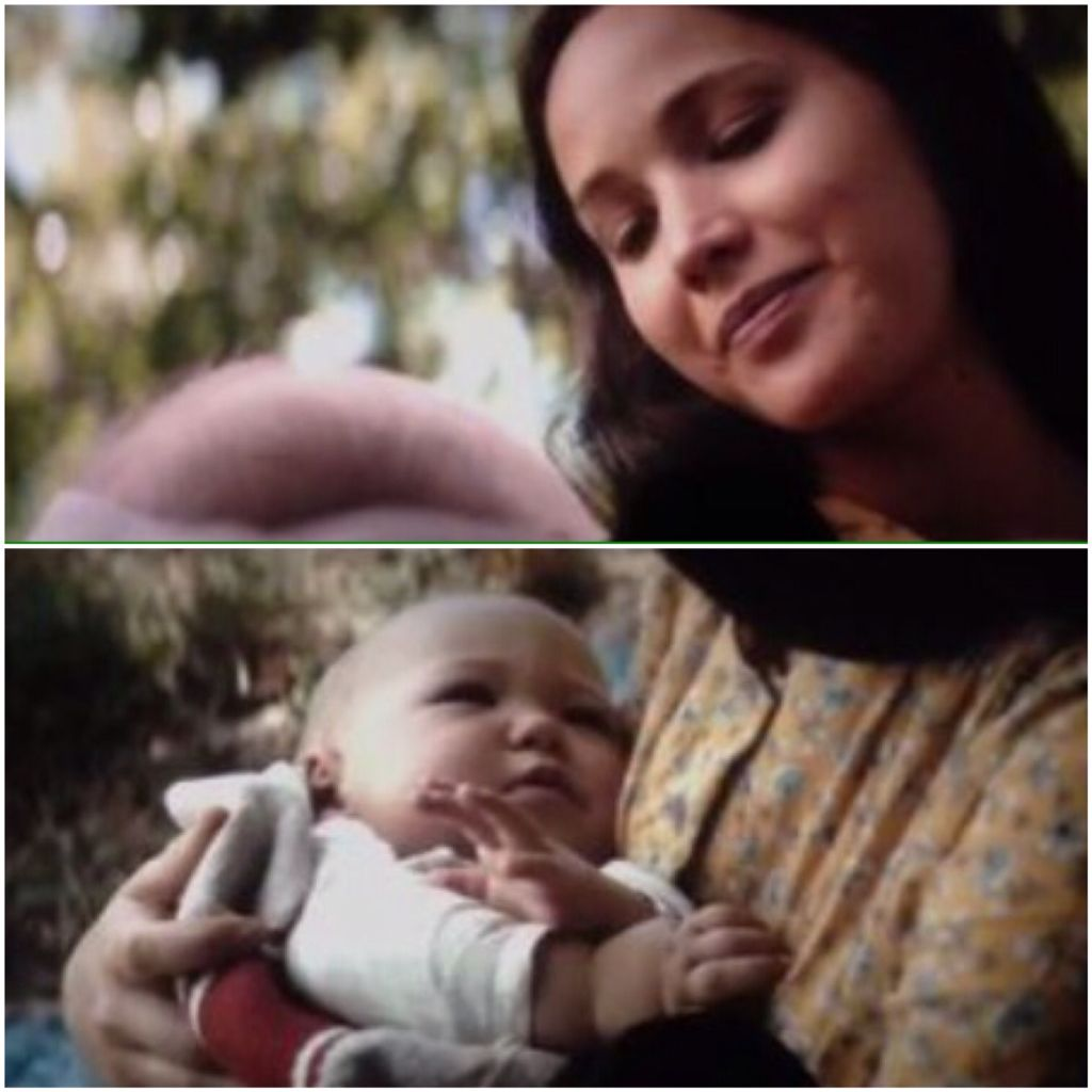 Katniss and her baby | The Mockingjay Lives | Pinterest ...