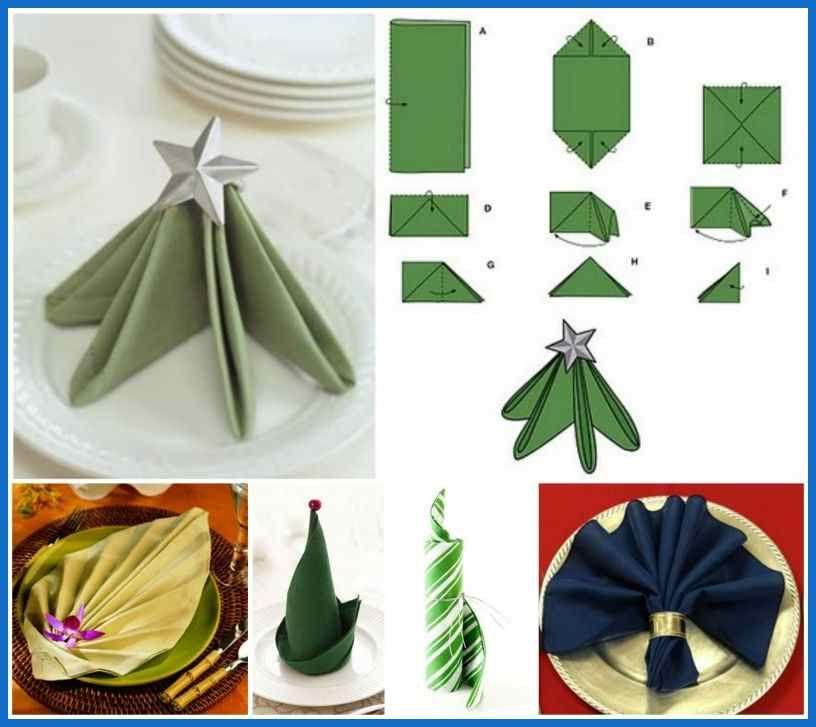 20 best diy napkin folding tutorials for christmas Christmas Napkin ... #diynapkinfolding