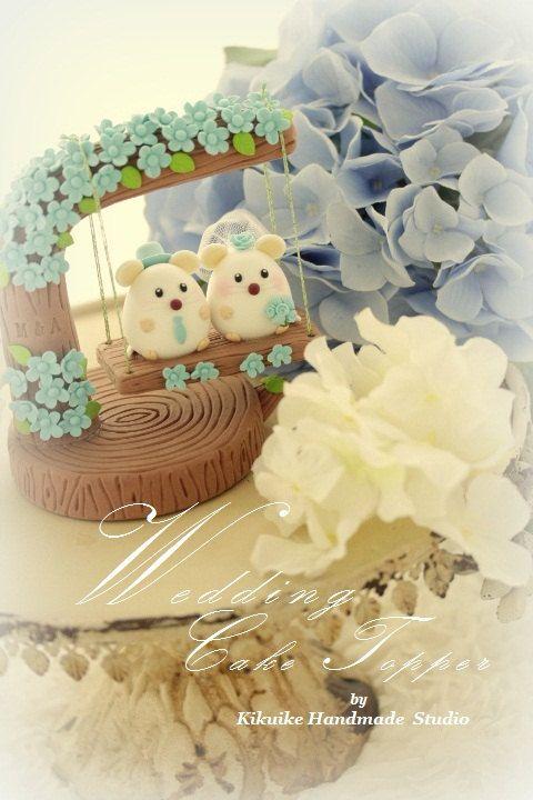 mouse / rat and mice Wedding Cake Topper--k772 | Wedding cake, Mice ...