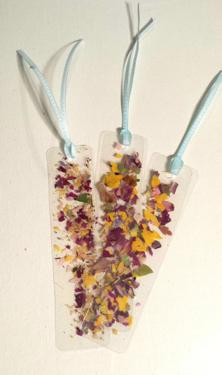 Pressed flower laminated bookmarks fun flower by for Dried flowers for crafts