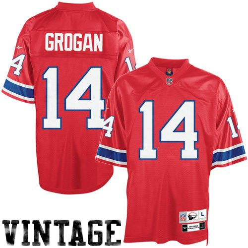 Wholesale Reebok NFL Equipment New England Patriots #14 Steve Grogan Red