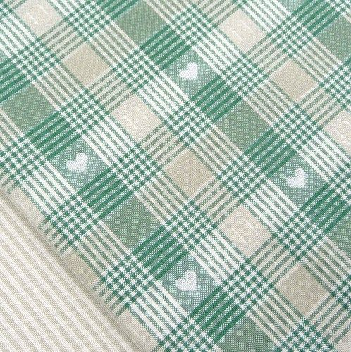 Dark Christmas tree green heart check fabric rustic vintage quilting | eBay shabby chic