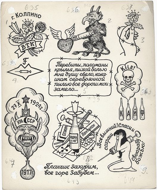 Russian Criminal Tattoo Drawing_6003 by Eye magazine, via