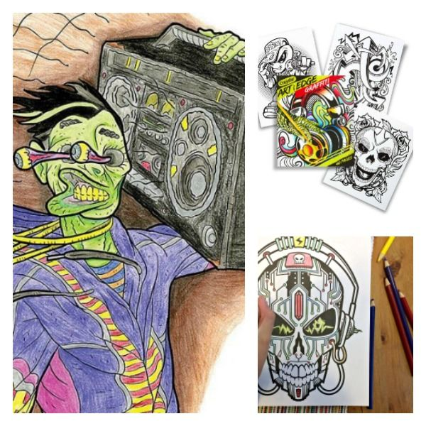 Art With Edge Coloring Books For Tweens And Teens Makes Coloring Cool Coloring Books Crayola Coloring Pages Cartoon Coloring Pages