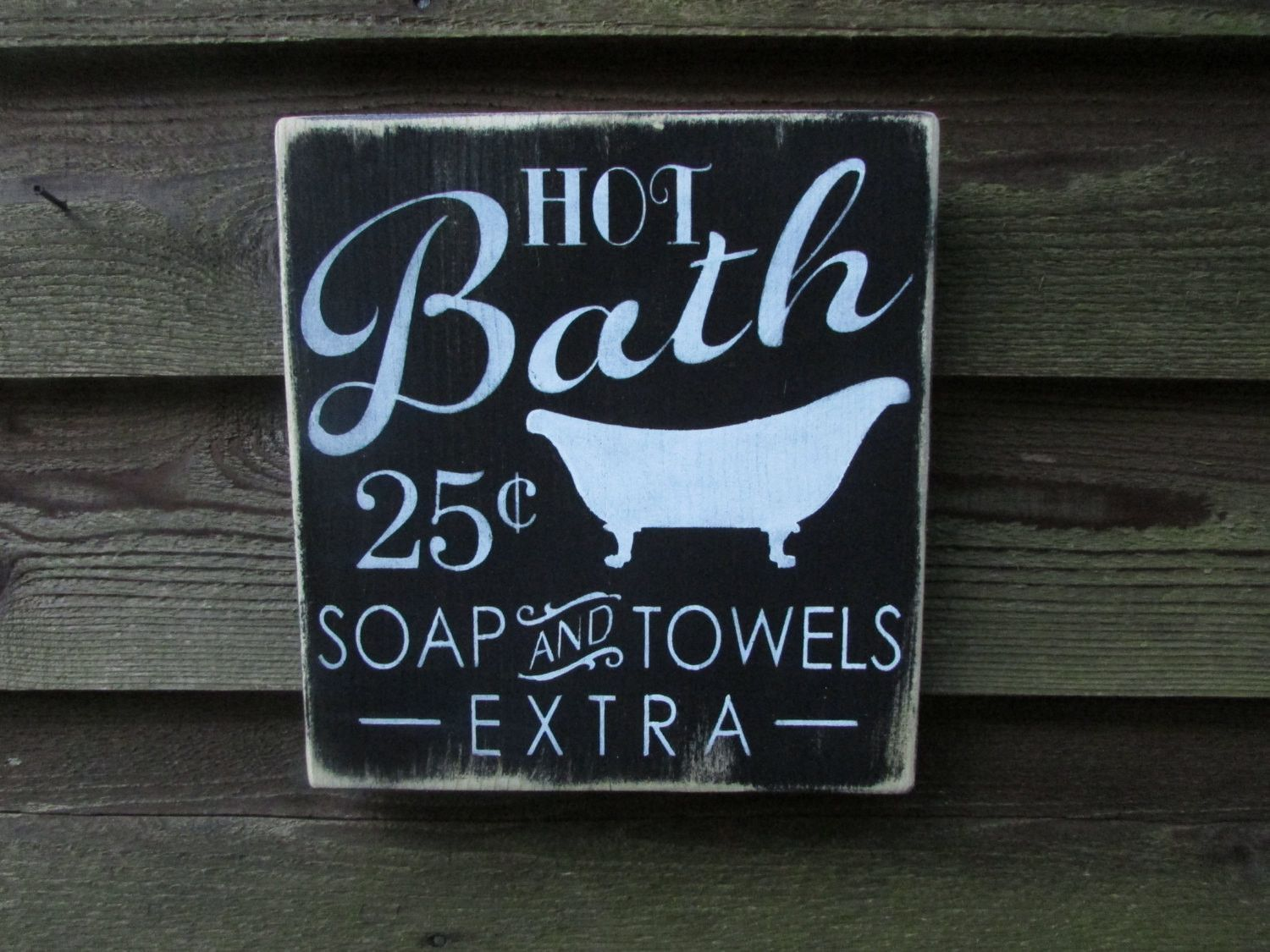 Bathroom Decor Signs Bathroom Sign Bathroom Décor Primitive Country Décor Country