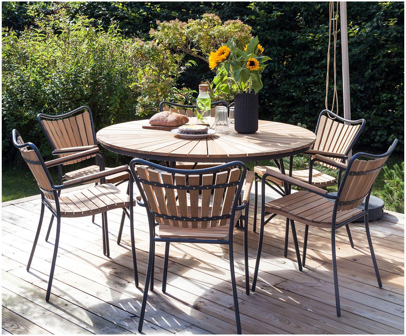 Gartenesstisch In Anthrazit Teak Cinas Westwingnow Gartentisch Gartentisch Holz Gartensitzplatz