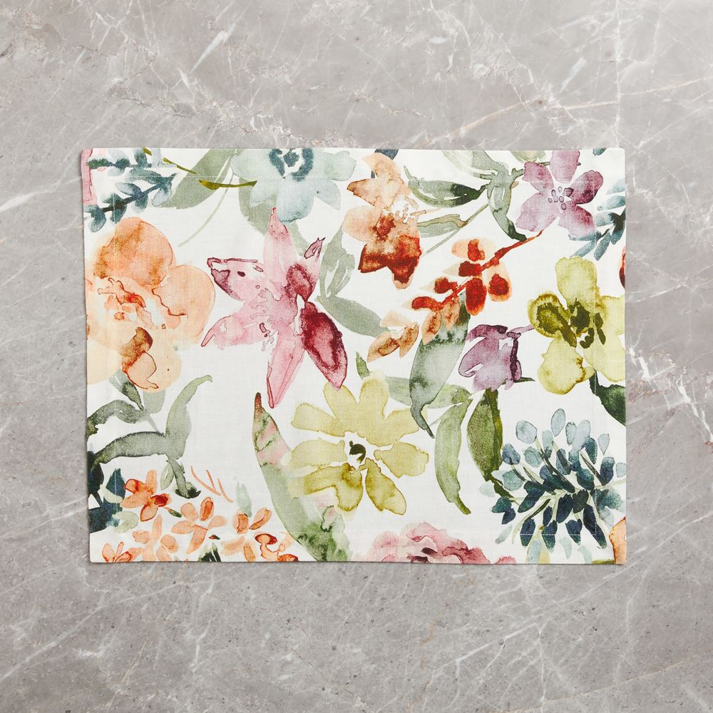 Sonder Printed Floral Placemat Floral Placemats Placemats Floral Table Runner