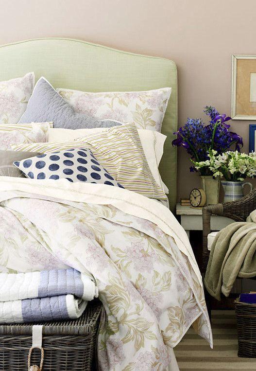 Lands End Bedding Bed Cottage Living Home Decor
