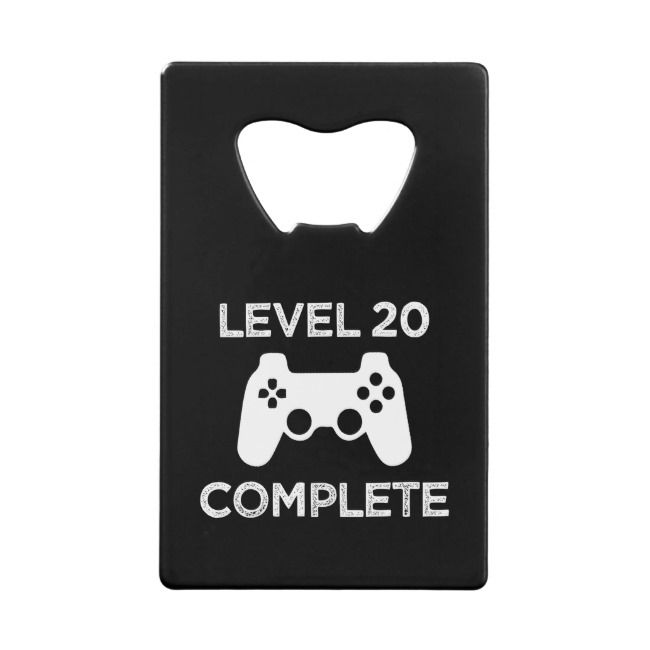 Level 20 Complete, Funny 21st Birthday beer opener |  Level 20 Complete Funny 21st Birthday beer opener