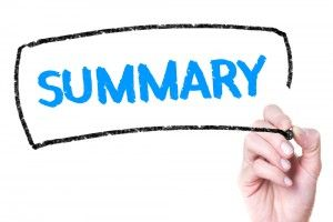 writing a summary of an article