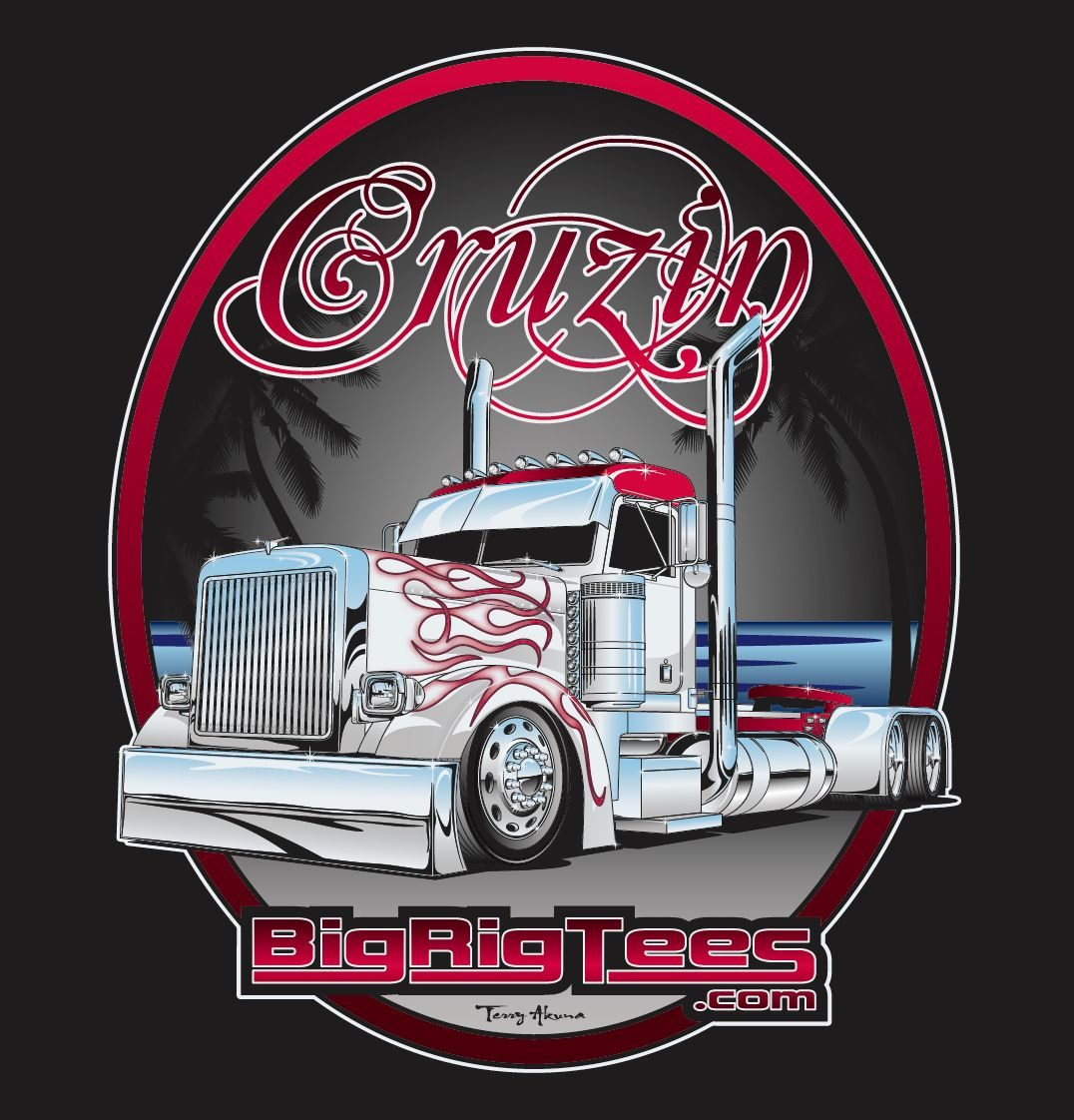 12d40c5b6 T-shirt design for BRT's retail line of T-shirts. Peterbilt 379 Day Cab.