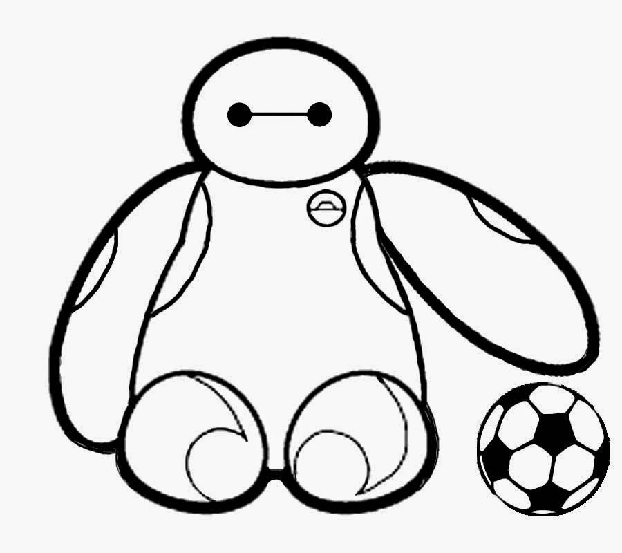 Baymax Hold The Ball Coloring Pages For Kids Printable Robots