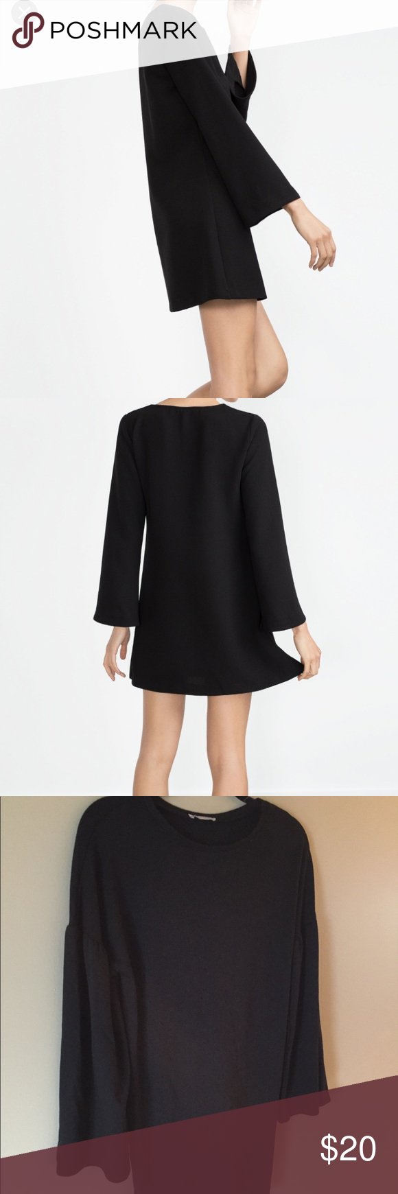 Zara bell sleeve shift dress zara dresses zara black and conditioning