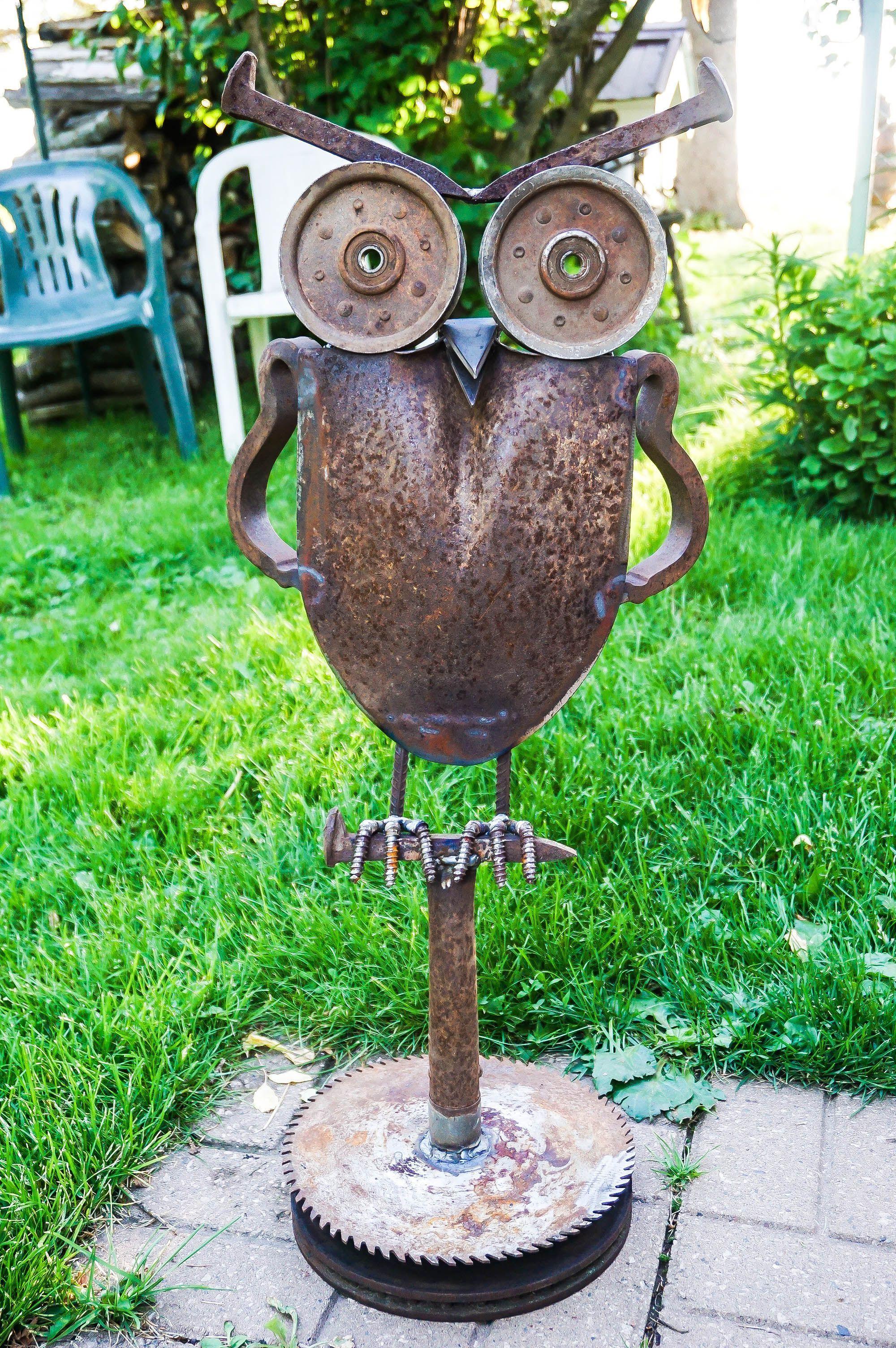 52 Garden Art Ideas From Junk Metaalkunst Tuinkunst