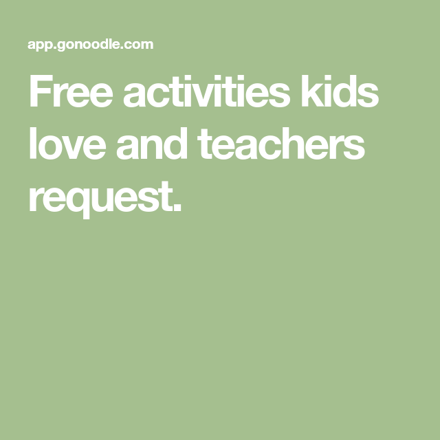 Free activities kids love and teachers request. Exercise