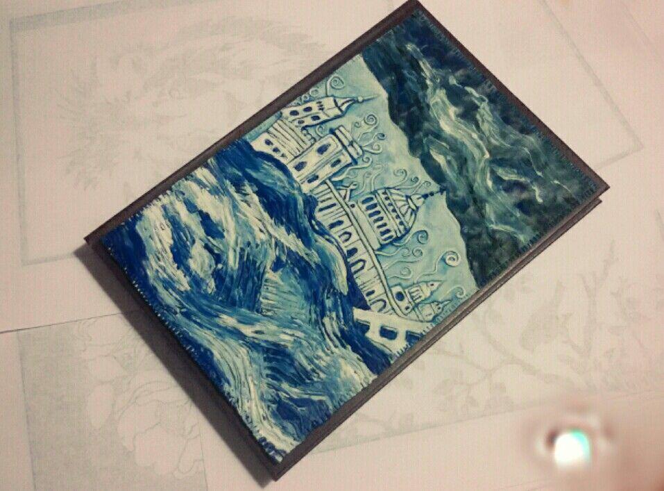 Ежедневник формата A5 с лепной рельефной обложкой ручной работы, 304 страницы, продается