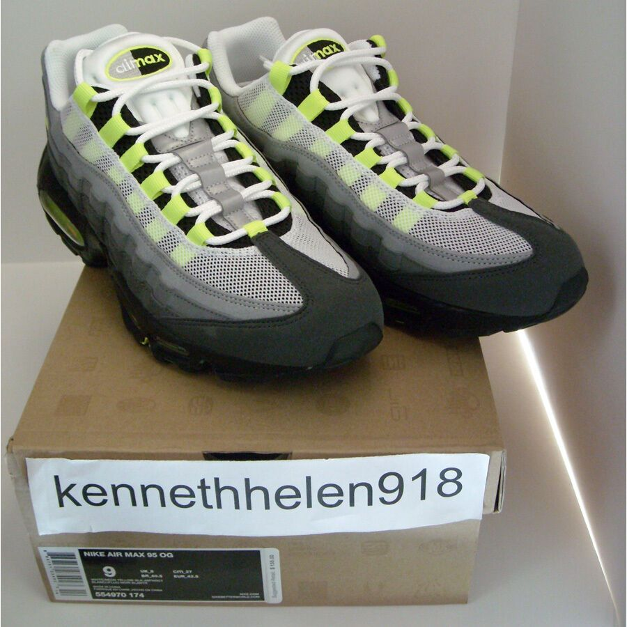 6d3a8bb70e eBay #Sponsored NEW 2012 NIKE AIR MAX 95 OG WHITE/NEON YELLOW-BLACK- ANTHRACITE MENS SIZE 9