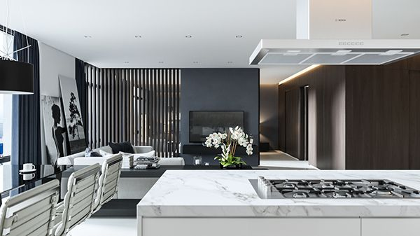 Black and white interiors are an easy way to create contrast within a space linked to silver screen icons marilyn monroe audrey hepburn and charlie