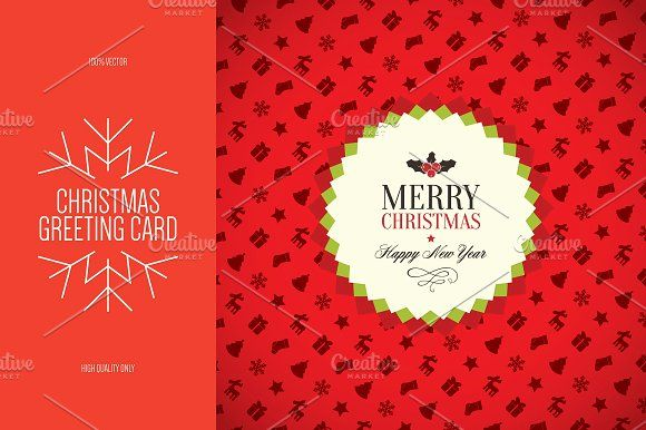 Christmas And New Year Greeting Card Creativework  Cards
