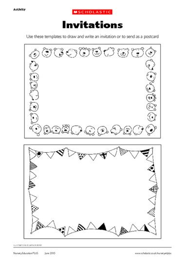 Click to download August Crafts \ Activities Pinterest - postcard template