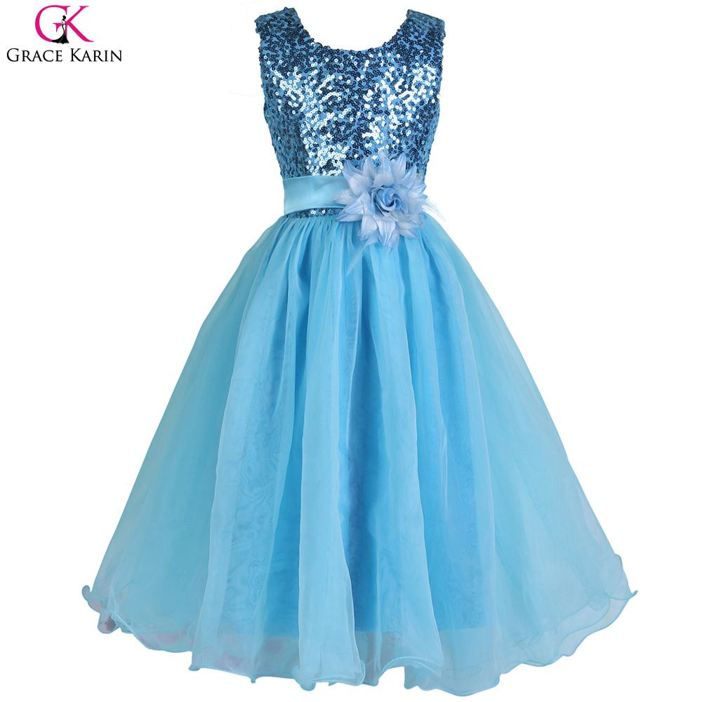 Click to Buy << Grace Karin Girl Prom Dress Formal Gowns Sequin ...