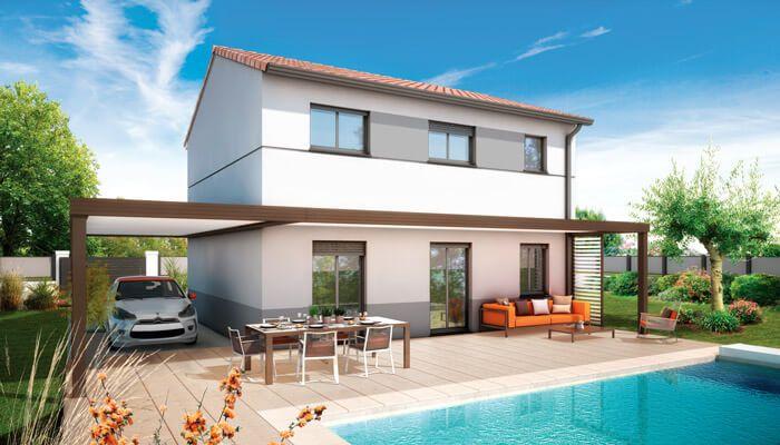 Maison toit plat Azur - plan maison contemporaine Maisons - plan maison contemporaine toit plat gratuit
