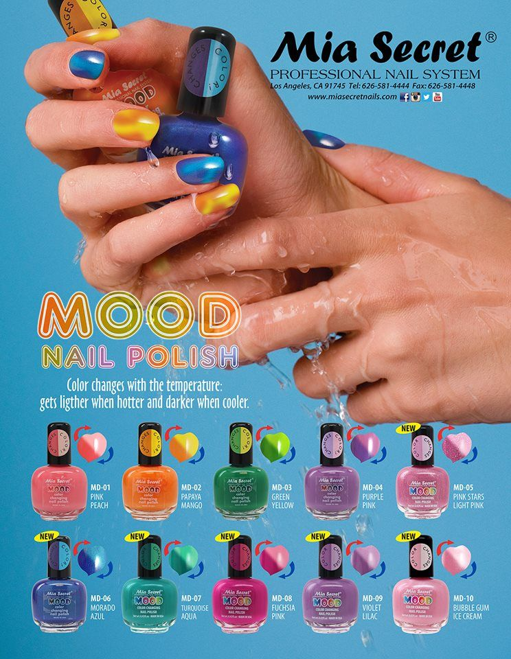 Mood Nail Polish will change color based on your body temperature ...