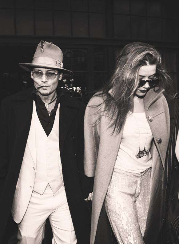 Johnny Depp + Amber Heard
