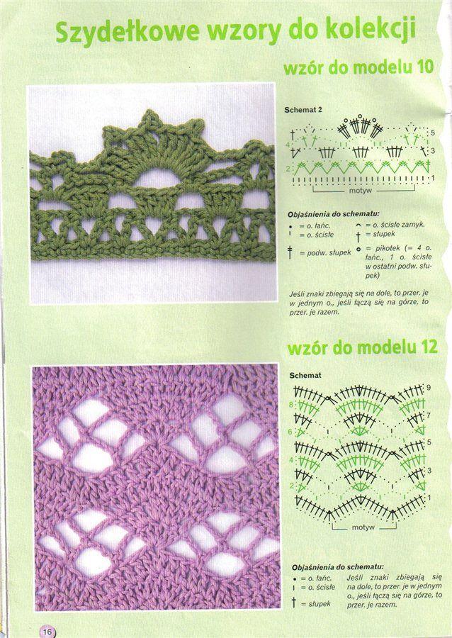 edging stitches #free #crochet #pattern | Proyectos que intentar ...